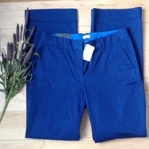 J. crew NWT Trouser pant sz 8 deep blue color
